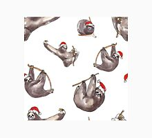 Christmas Sloths with Santa Hats Classic T-Shirt