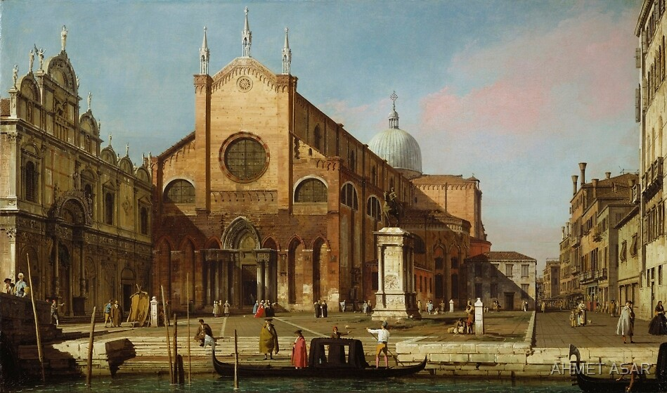 Canaletto  Venice The Campo SS. Giovanni e Paolo (1736 40) by MotionAge Media