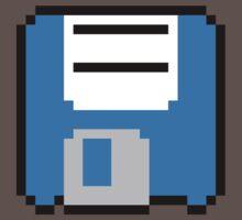Floppy Disk - Blue One Piece - Short Sleeve