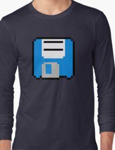 Floppy Disk - Blue Long Sleeve T-Shirt