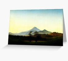Caspar David Friedrich Böhmische Landschaft Greeting Card