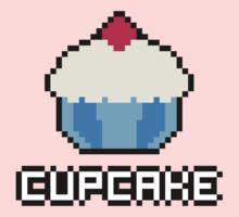 8-Bit Cupcake [Blue] Kids Clothes
