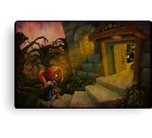 La Belle et La Bete Illustration Canvas Print