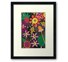 Jungle Flowers Framed Print