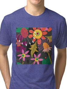 Jungle Flowers Tri-blend T-Shirt