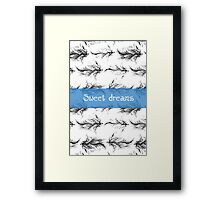 Black feathers pattern Framed Print