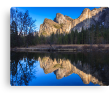 Cathedral Rocks Reflections Canvas Print