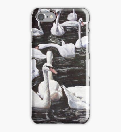 christchurch harbour swans with Mallard Duck conversation iPhone Case/Skin