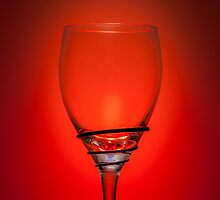 Empty Wine Glass - Red by broomhillphoto