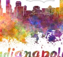 Indianapolis skyline in watercolor Sticker