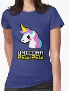 Unicorn Pew-Pew! Womens Fitted T-Shirt