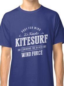 Kitesurf Command The Beach White Graphic Classic T-Shirt