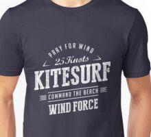 Kitesurf Command The Beach White Graphic Unisex T-Shirt
