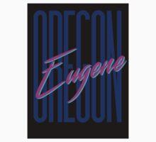 Retro 80s Eugene, Oregon Kids Tee