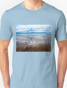 Cloud reflections at low tide T-Shirt