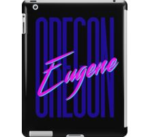 Retro 80s Eugene, Oregon iPad Case/Skin