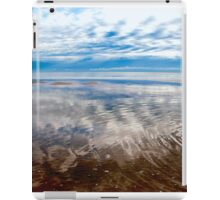 Cloud reflections at low tide iPad Case/Skin