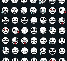 Skull Emoticons by Fuacka