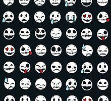 Skull Emoticons by Fuacka