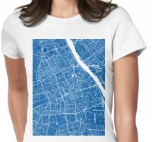 Warsaw (blue) Womens Fitted T-Shirt