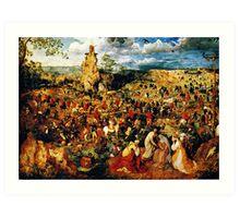 christ carrying the cross 1564 Art Print