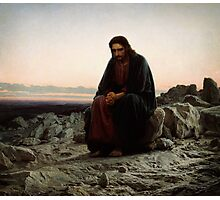 christ in the wilderness Photographic Print