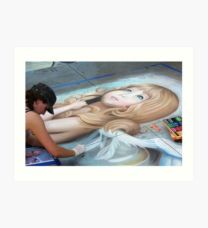 20th Anniversary Pasadena Chalk Festival Art Print