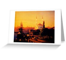 constantinople 1856 Greeting Card