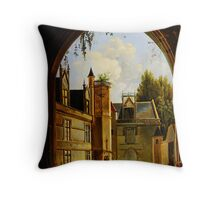 Cour hotel de Cluny MNMA Cl23879 Throw Pillow