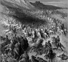 crusaders surrounded by saladin s army 1877 by Adam Asar