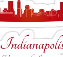 Indianapolis skyline in red Sticker