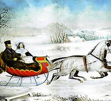 Currier and Ives Otto Knirsch The Road Winter by Adam Asar
