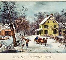 curriver ives American homestead winter by Adam Asar