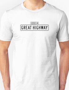 Great Highway, San Francisco Street Sign, USA T-Shirt
