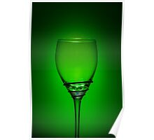 Empty Wine Glass - Green Poster