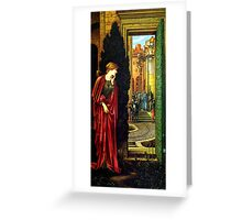 danae and the brazen tower Greeting Card