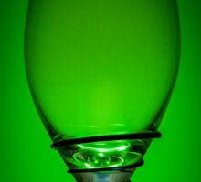 Empty Wine Glass - Green Sticker