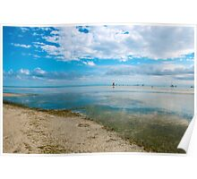 Peaceful anchorage at Tangalooma  Poster