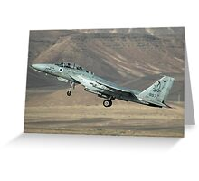 Israeli Air force (IAF) Fighter jet F-15 (BAZ)at takeoff  Greeting Card