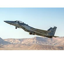Israeli Air force (IAF) Fighter jet F-15 (BAZ)at takeoff  Photographic Print