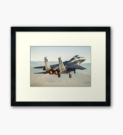 Israeli Air force (IAF) Fighter jet F-15 (BAZ)at takeoff  Framed Print