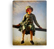 dragonfly painters daughter portrait Metal Print