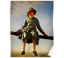 dragonfly painters daughter portrait Poster