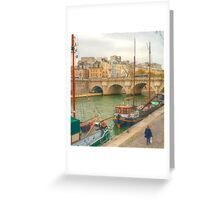 Boats & Pont Neuf Greeting Card