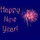 Fireworks Happy New Year&#x27;s card or invite by campyphotos