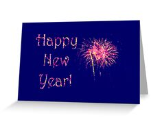 Fireworks Happy New Year's card or invite Greeting Card