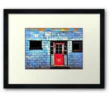 painted red.. Framed Print