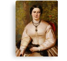 English 19th century Portrait of a lady Canvas Print