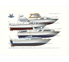 Fairey Spearfish 30, Spears and Fantome 32  Art Print