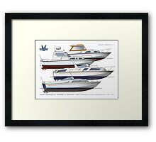 Fairey Spearfish 30, Spears and Fantome 32  Framed Print